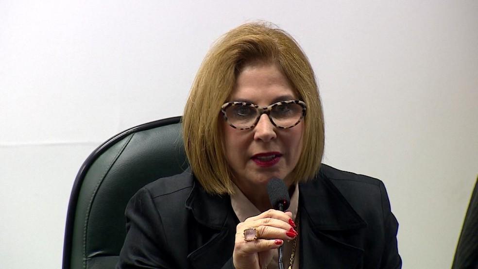 Carmen Flores é candidata ao Senado pelo PSL (Foto: Reprodução/RBS TV)