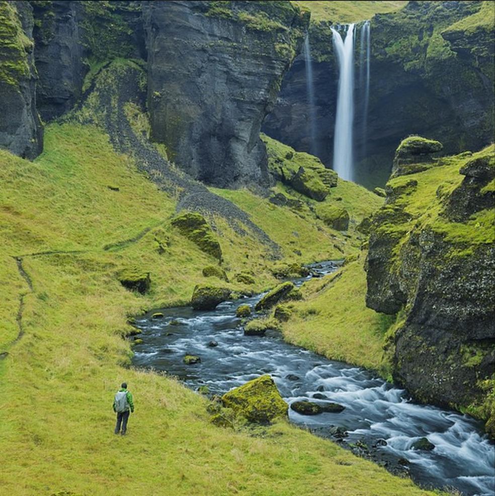 Paisagem da Islândia (Foto: Reprodução/Twitter/@thisisiceland)