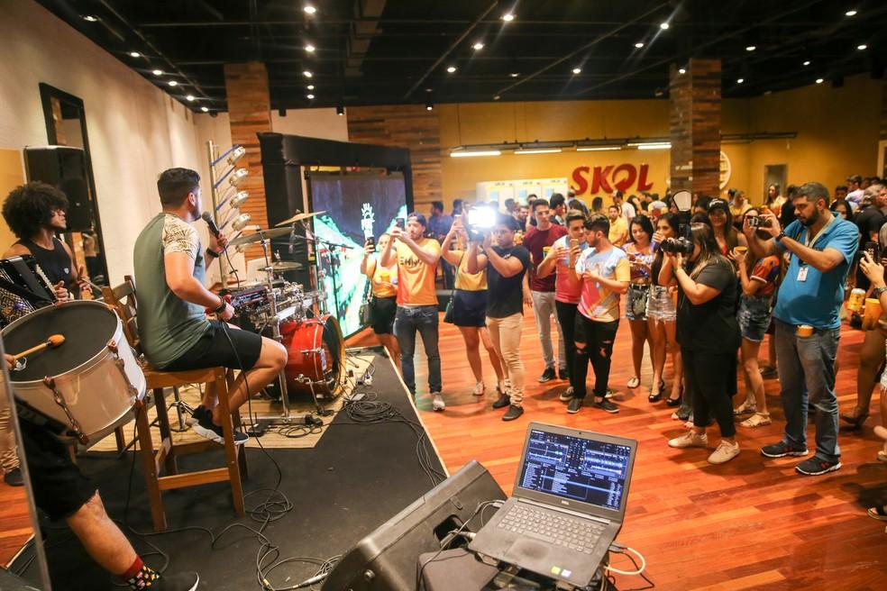 Evento realizado nesta quarta-feira (10) divulgou oficialmente a programação do Fortal 2019. — Foto: Kid Júnior / Sistema Verdes Mares