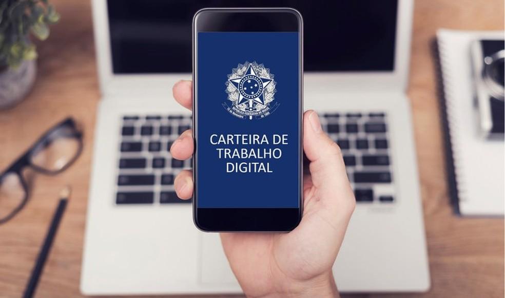 Carteira de trabalho digital — Foto: Divulgação