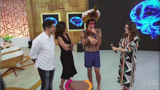 'Tá no Ar': Obirajara Dominique manda beijos para seus fãs no Encontro: 'Tô realizado'