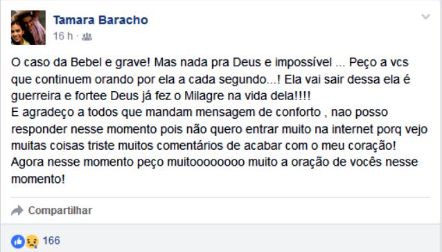 Tamara Baracho Porto Velho Gêmeas (Foto: Facebook/Reprodução)