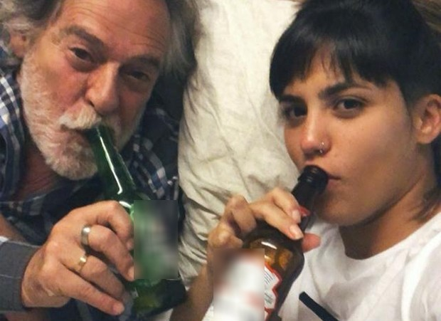 Namorada de José de Abreu mostra como lida com críticas à