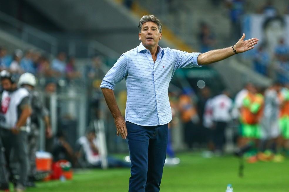 Renato deve manter a mesma equipe que venceu o Brasil na final do Gauchão (Foto: Lucas Uebel / Grêmio, DVG)