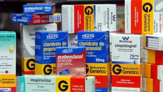 Remédios genéricos são cada vez mais prescritos pelos médicos, segundo levantamento divulgado (Foto: Arquivo EBC)