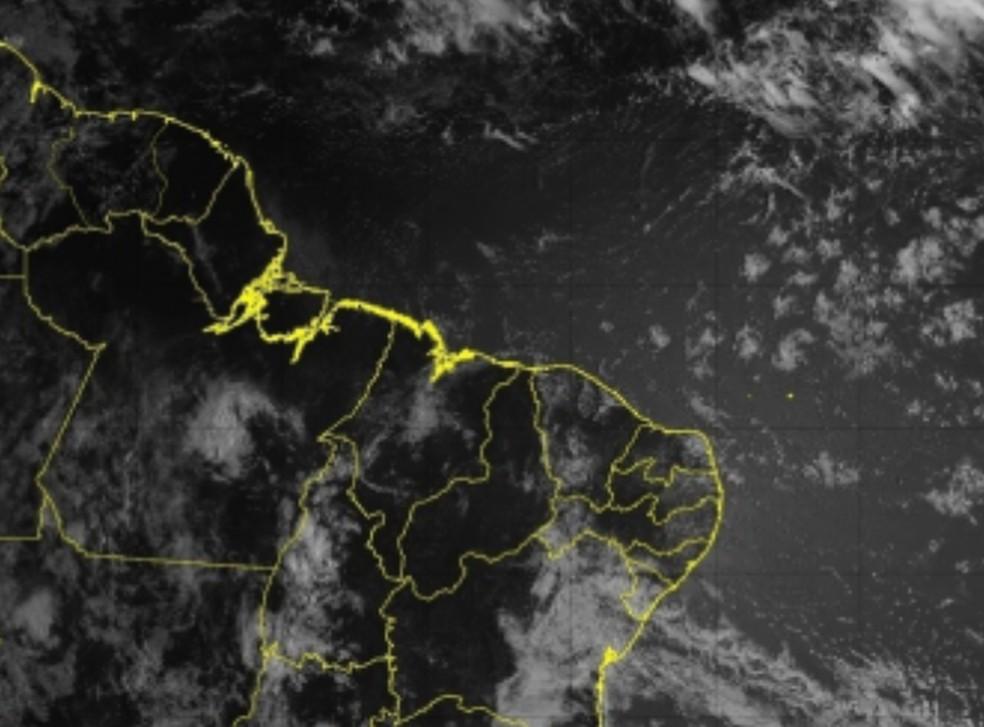 Há poucas nuvens sobre o Ceará. — Foto: CPTEC/INPE/DSA.