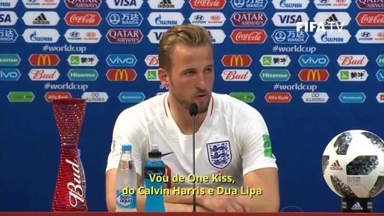 Harry Kane faz três gols, supera CR7 e Lukaku na artilharia da Copa e pede música no Fantástico