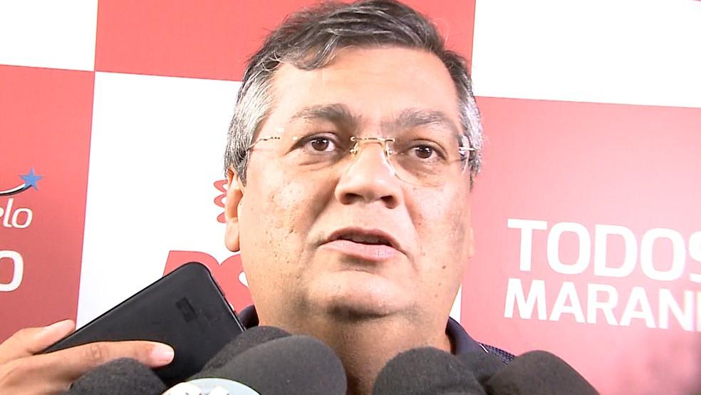 Flávio Dino em convenção realizada pelo PCdoB (Foto: Reprodução/TV Mirante)