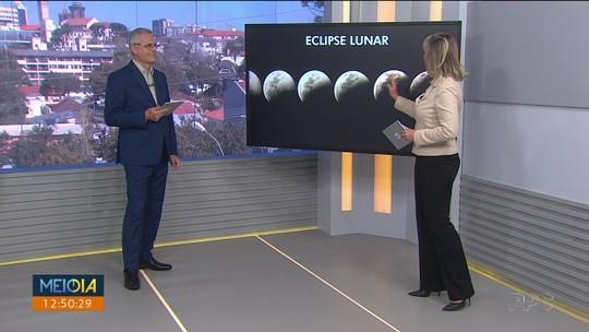 Confira 10 fotos do eclipse lunar pelo Paraná, recebidas pelo aplicativo Você na RPC