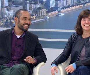 Silvio Guindane e Natália Lage   Reprodução