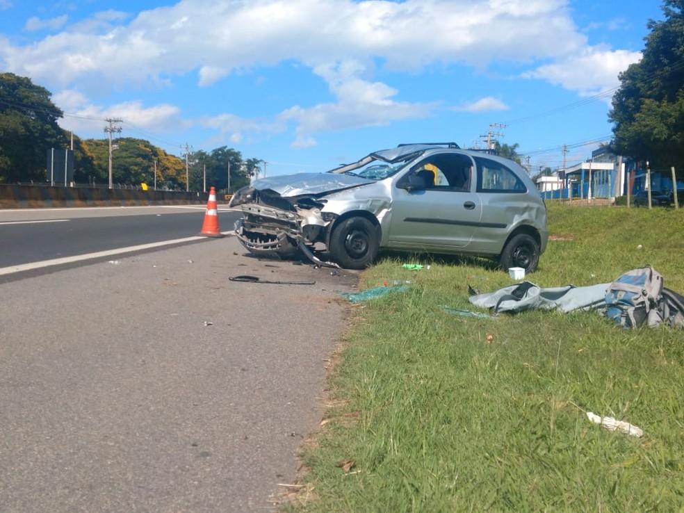 Motorista passa mal e atropela ciclistas em rodovia de Cabreúva (SP) — Foto: Arquivo pessoal