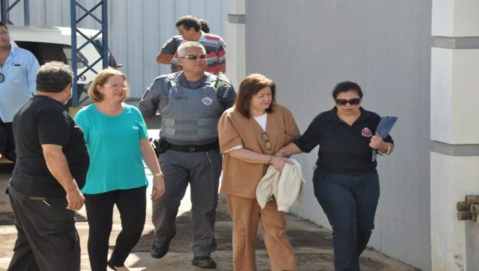 Sueli ficou presa por cinco meses após a denúncia do desvio milionário (Foto: Reprodução/TV TEM)