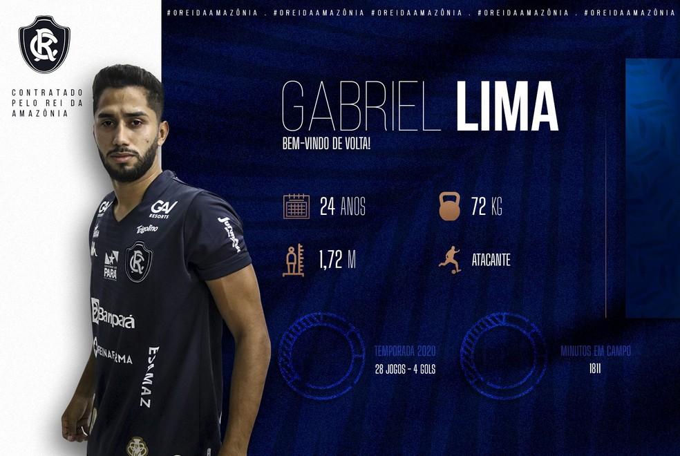 Gabriel Lima volta ao Remo após dois anos — Foto: Divulgação/Remo