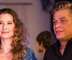 Na segunda-feira (21), Arthur (Fabio Assunção) beija Natasha (Lavinia Vlasak)  | TV Globo