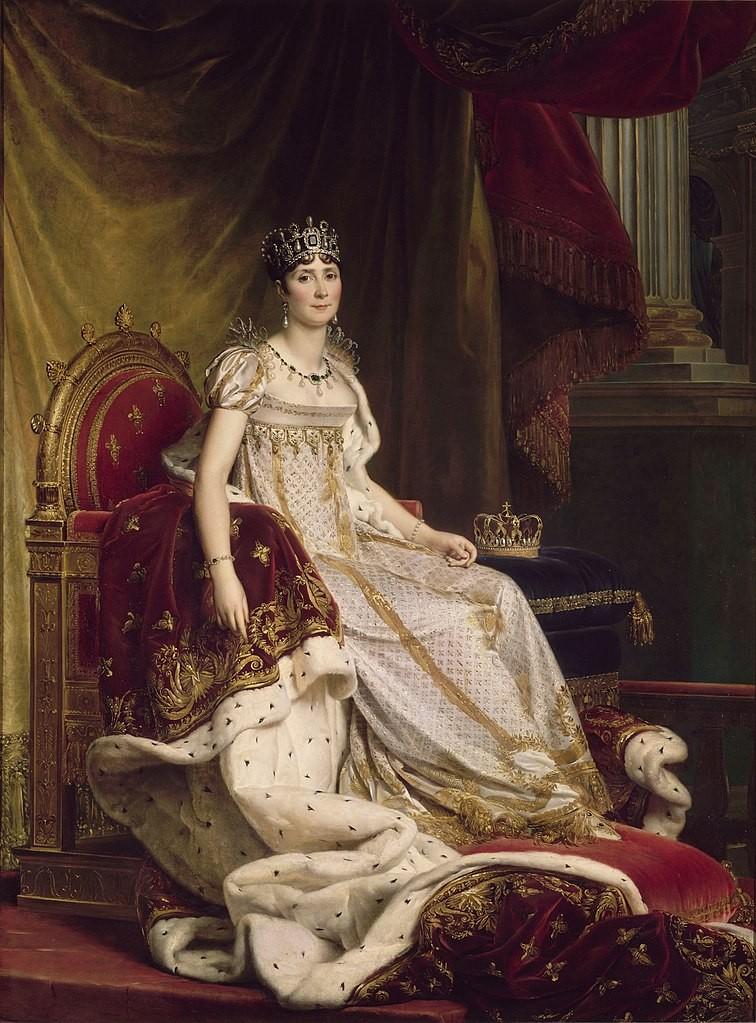 Imperatriz Josefina de Beauharnais durante coroação, em pintura de François Gérard (Foto: Wikipedia Commons)