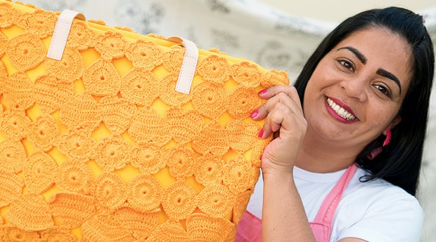 Tânia Rodrigues Correa, cooperada do projeto do Instituto Humanitas 360 (Foto: Divulgação)