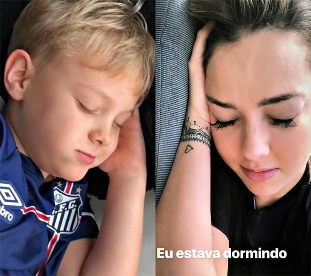 Carol Dantas e Davi Lucca, seu filho com Neymar (Foto: Reprodução/Instagram)