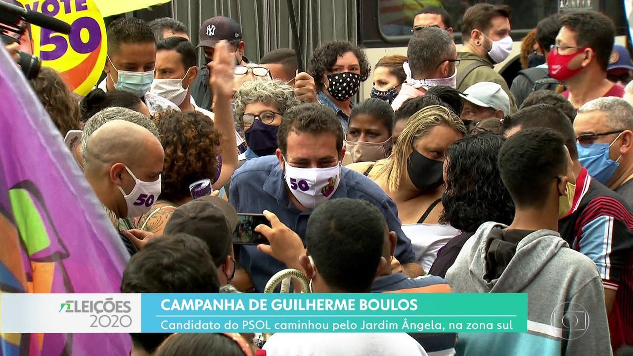 Guilherme Boulos fez campanha na zona sul
