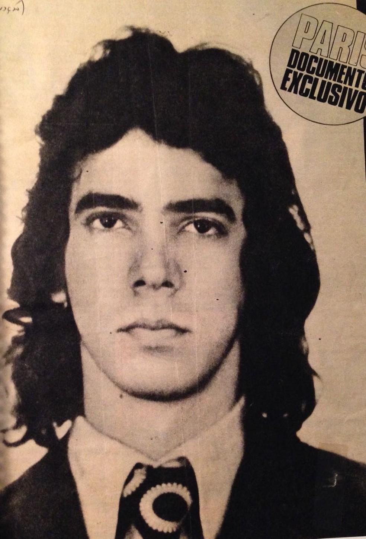 Foto de Ricardo Trajano em 1973, ano do acidente com o voo Varig 820 (Foto: Arquivo pessoal/Ricardo Trajano)