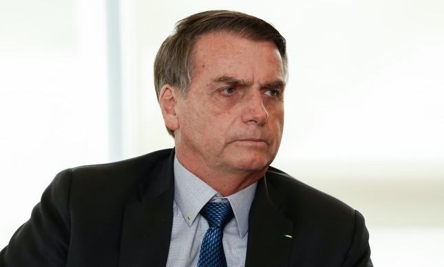 Presidente Jair Bolsonaro durante encontro com Clifford Sobel, ex-embaixador dos Estados Unidos no Brasil