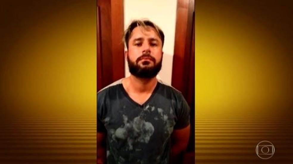 Sérgio de Arruda Quintiliano Neto, conhecido como Minotauro, foi preso em Balneário Camboriú — Foto: Reprodução/ TV Globo