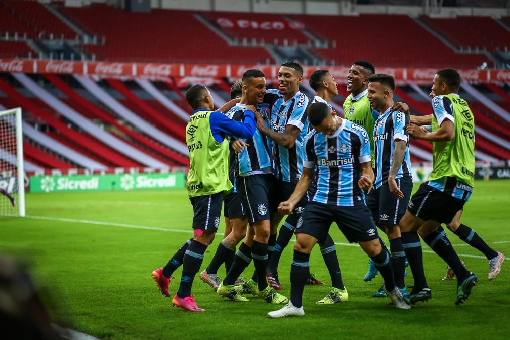 Grêmio venceu o Gre-Nal no Beira-Rio — Foto: Lucas Uebel/Grêmio