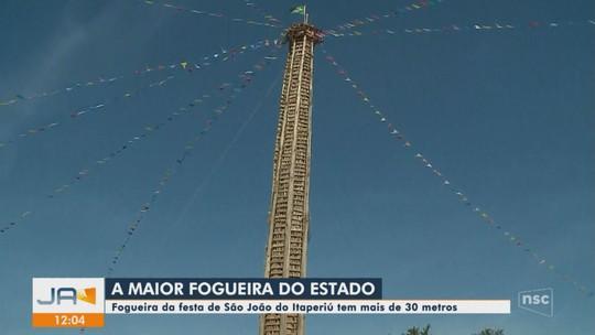 Fogueira de 33 metros será acesa na  104ª edição da festa de São João de Itaperiú