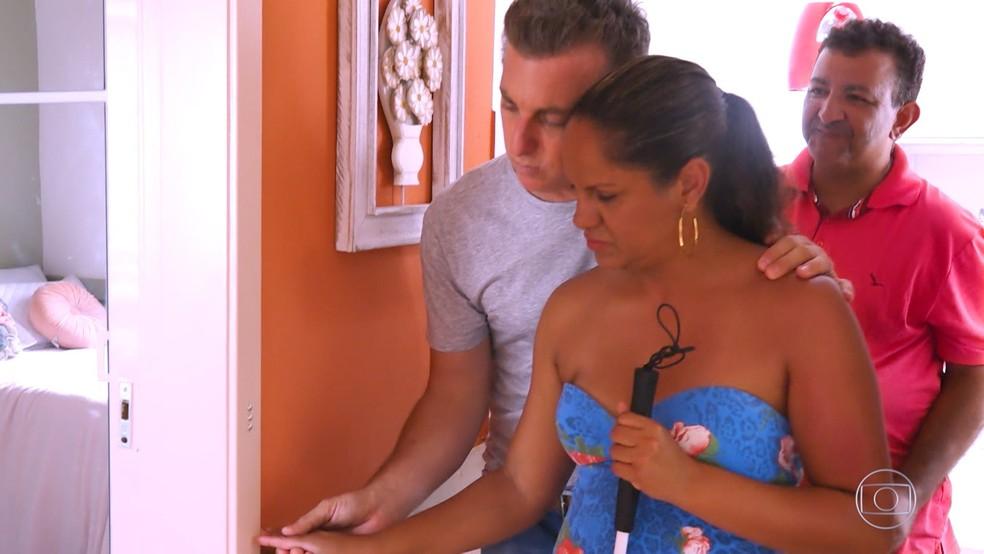 A reforma da casa de Lisandra no 'Lar Doce Lar' contou com adaptações para melhor acessibilidade da deficiente visual — Foto: TV Globo