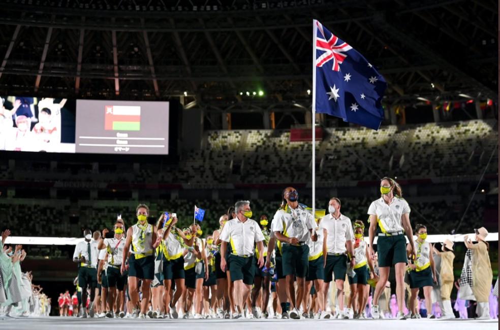Delegação da Austrália — Foto: @olympic