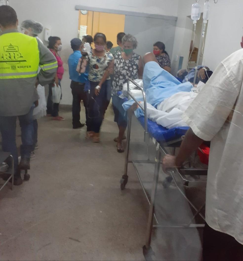 Sala de medicação no HGE, em Maceió, durante a pandemia — Foto: Arquivo Pessoal