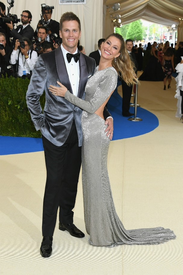 Tom Brady e Gisele Bündchen no Met Gala 2017 (Foto: Getty Images)