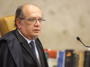 A análise da matéria no julgamento sobre porte de drogas para uso pessoal, interrompida na véspera, é retomada com a apresentação do voto do relator do processo, ministro Gilmar Mendes, no STF, em Brasília (Foto: Carlos Humberto/SCO/STF)