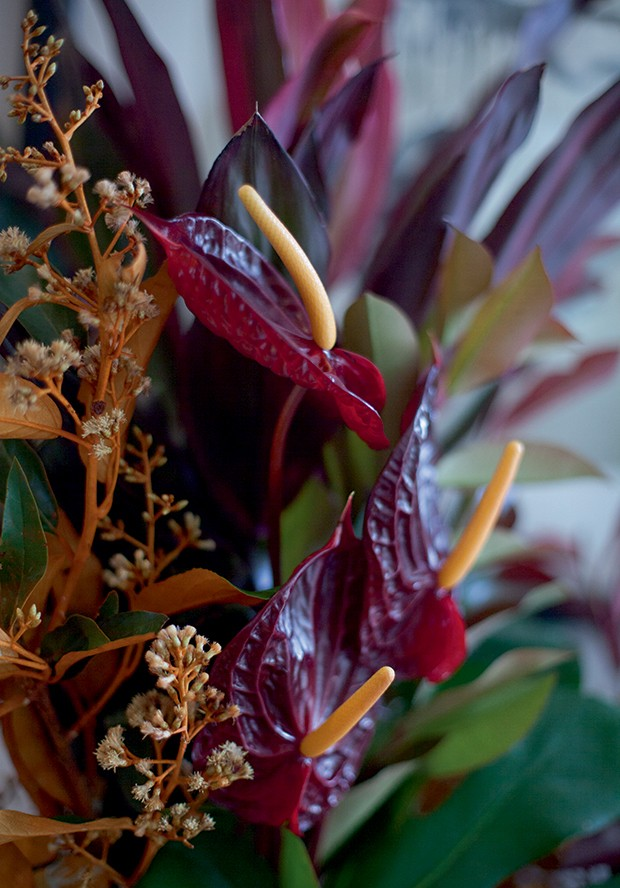 Lifestyle natal entre amigas - Arranjos de folhagens e flores (Foto: Mayra Azzi)