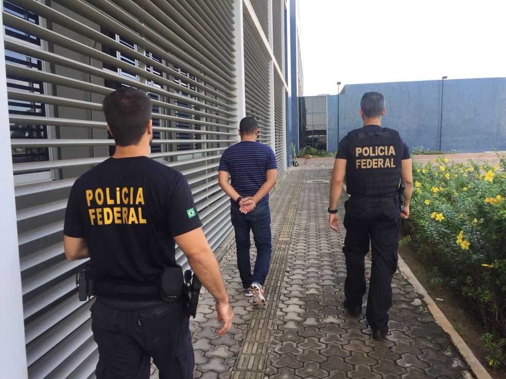 Investigado foi um dos 15 presos pela PF no Amapá nesta terça-feira (31) (Foto: PF/Divulgação)