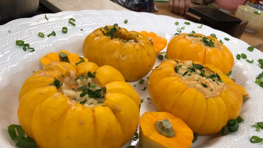 Risoto de Abóbora com Gorgonzola do Chef Roberto Ravioli