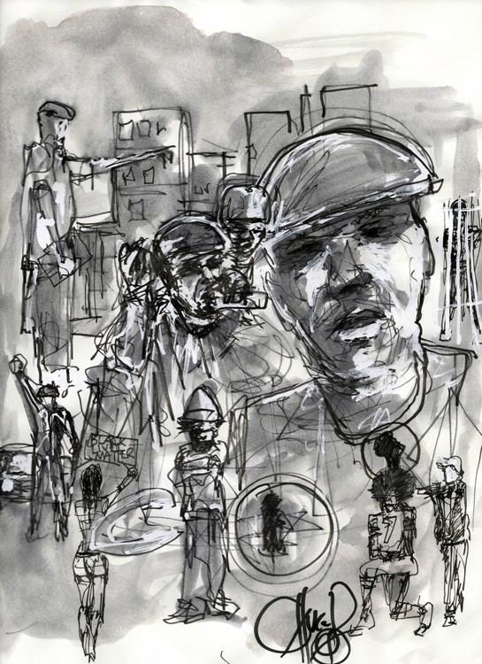 """A obra """"Jahi (P.E. 2.0) Tired"""", de Chuck D.  (Foto: Divulgação)"""