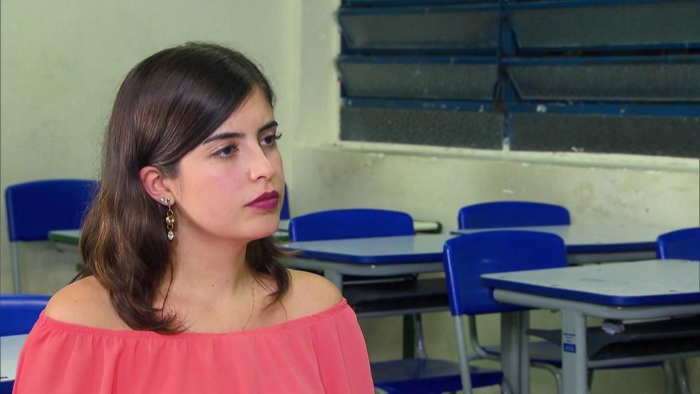 A deputada Tabata Amaral (PDT-SP) foi uma das que contrariam orientação do PDT e votaram a favor da reforma da Previdência — Foto: Reprodução/GloboNews