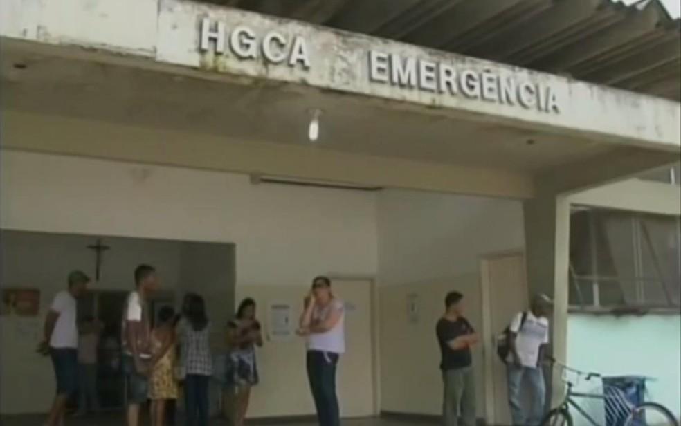 Idoso foi levado para Hospital Geral Clériston Andrade, em Feira de Santana (Foto: Reprodução/ TV Subaé)