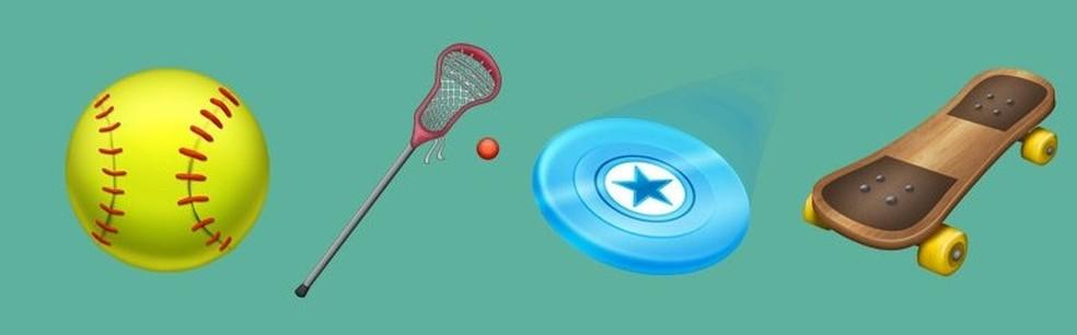 Lacrosse, beisebol e frisbee estão entre os esportes que entrarão na lista de emojis de 2018 (Foto: Reprodução/Emojipedia)
