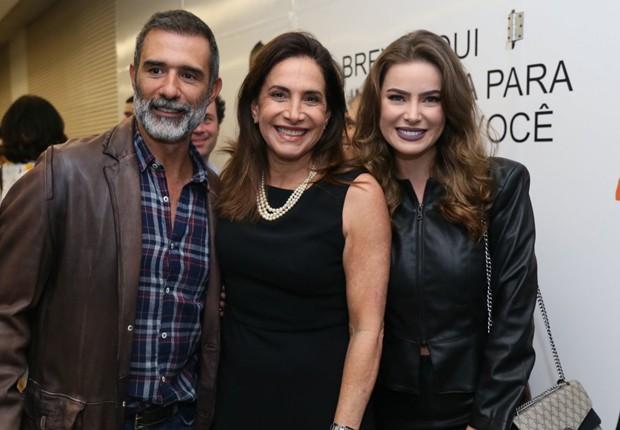 Marcos Pasquim, Totia Meirelles e Rayanne Moraes (Foto: Rogerio Fidalgo e Anderson Borde/AgNews)