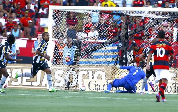 Julio Cesar comemora gol na partida do Botafogo contra o Flamengo (Foto: Jorge William / Ag. O Globo)