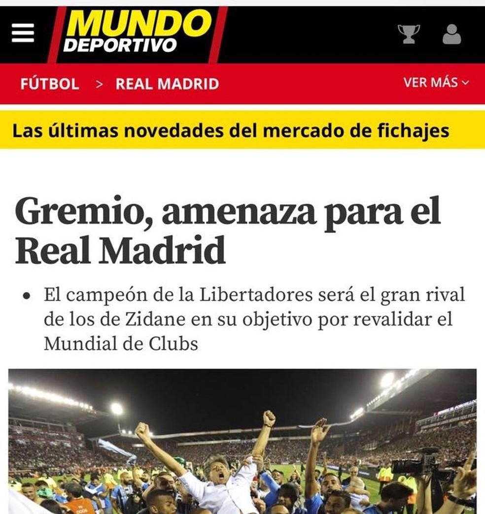 Mundo Deportivo, da Espanha (Foto: Reprodução)