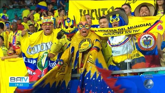 Colômbia bate o Uruguai em jogo pela Copa América na Fonte Nova