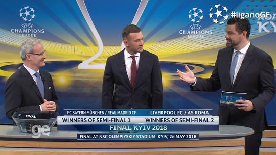 Sorteio define semifinais da Champions com Real x Bayern e Roma x Liverpool