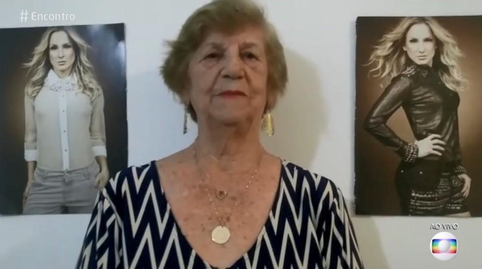 Avó de Claudia Leitte mandou mensagem surpresa para ela — Foto: TV Globo