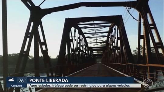 Ponte na divisa de Minas Gerais com São Paulo é liberada para tráfego de veículos