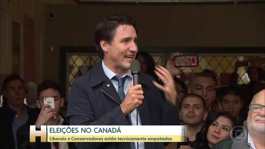 Eleições no Canadá apontam empate