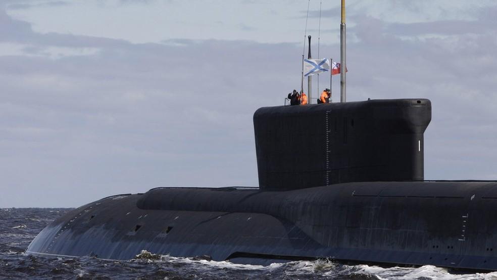 Submarino russo Yuri Dolgoruky: O sistema nuclear da Rússia deve ser lançado a partir de submarinos adaptados  (Foto: AFP)