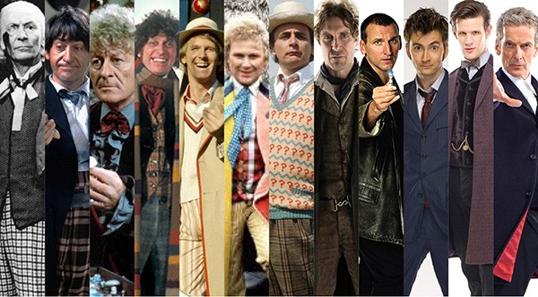 Doctor Who: William Hartnell (1963-1966), Patrick Troughton (1966-1969), Jon Pertwee (1970-1974) Tom Baker (1974-1981), Peter Davison (1981-1984), Colin Baker (1984-1986), Sylvester McCoy (1987-1989, 1996), Paul McGann (1996, 2013), Christopher Eccleston  (Foto: Divulgação)