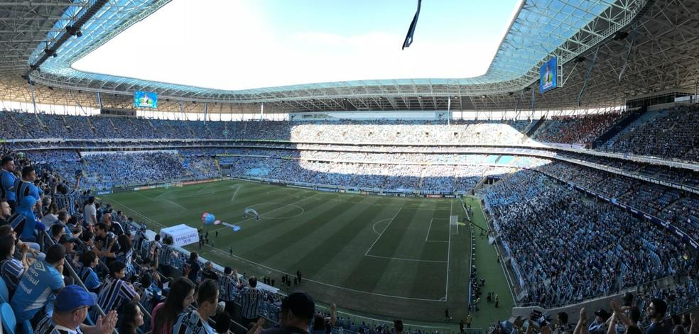 Arena deve estar lotada no clássico de domingo — Foto: Diego Guichard/GloboEsporte.com